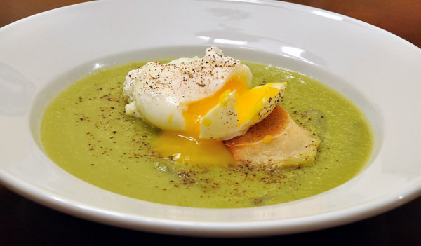asparagus soup with egg on toast | life with the lushers