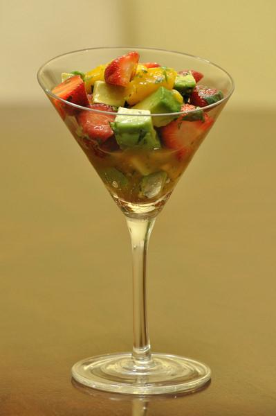 fresh strawberry, mango  avocado salad life with the lushers