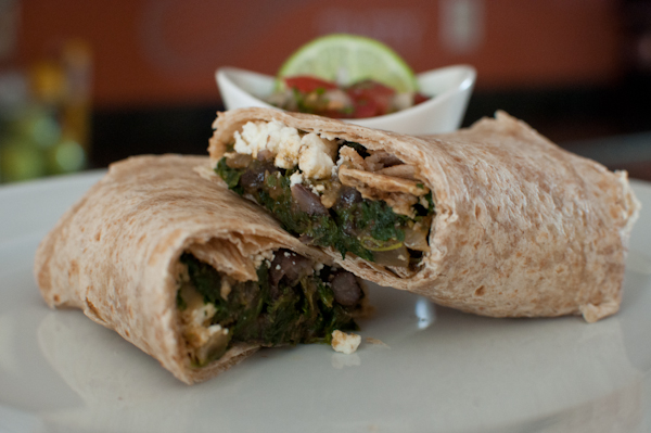 spinach & mushroom wraps with feta | life with the lushers