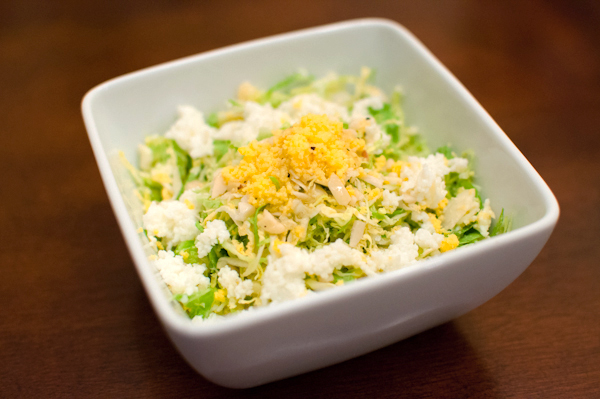 shaved brussels sprouts salad | life with the lushers
