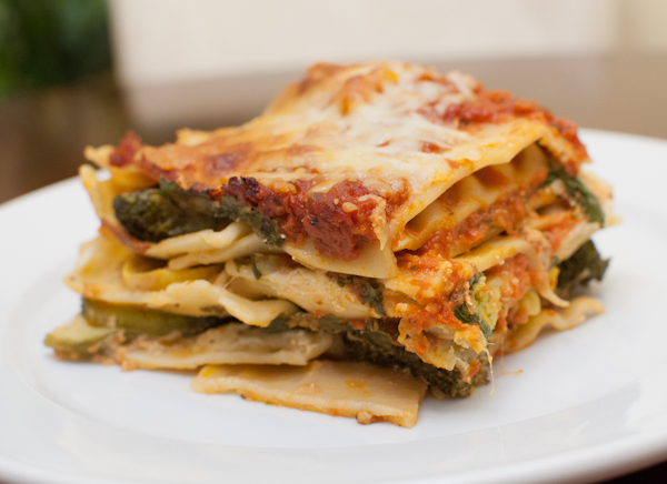 roasted vegetable lasagne - life with the lushers