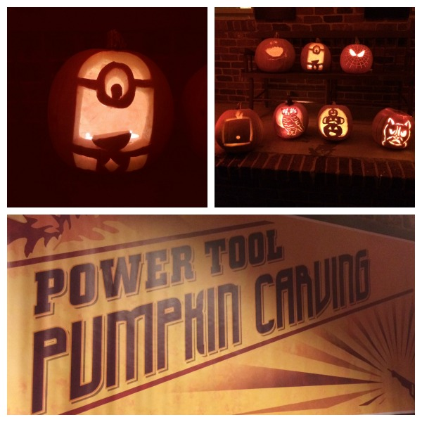 power tool pumpkin carving - life with the lushers