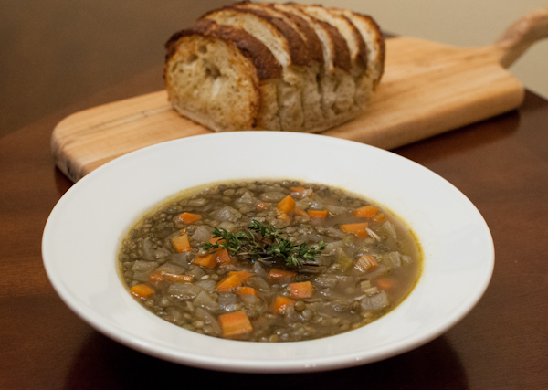 lentil soup - life with the lushers