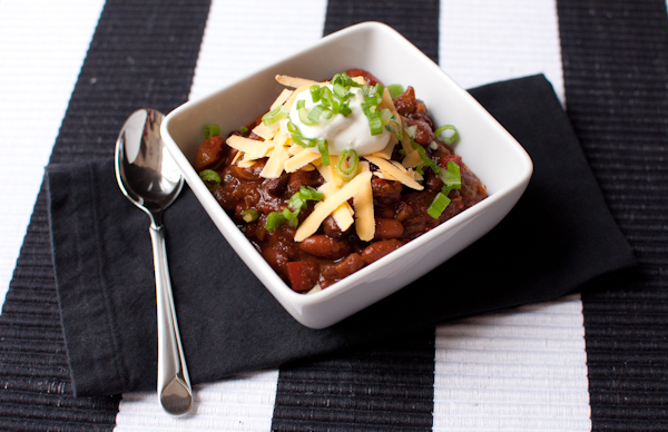 vegetarian chili - life with the lushers