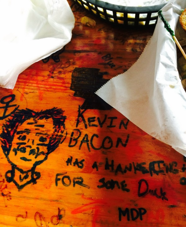 tattoed moose kevin bacon Tattooed Moose: Go for the duck club, stay for the fries.